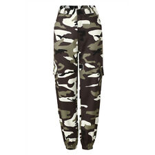 Womens Casual Camouflage Pants Camo Cargo Joggers Military Army Combat Trousers