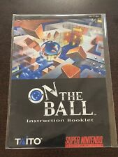 On The Ball Manual SNES Super Nintendo Instruction Booklet Only Taito