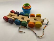Discovery pull color wheel and stack cups for water play with numbers and colors