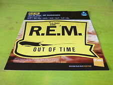 R.E.M - REM - OUT OF TIME !!!!!PLV 30X30 CM !!FRENCH RECORD STORE PROMO ADVERT