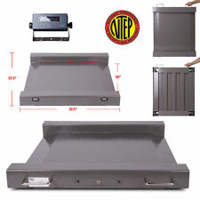 New NTEP (Legal for trade) Drum Floor Scale / Easy Ramp Access 5000 x 1 lb