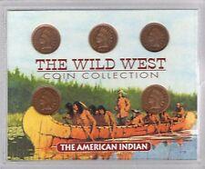American Coin Treasures 1901+ US Wild West INDIAN HEAD PENNIES COA w/Case #1173
