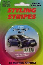 "Car Body Styling Pin Stripe 3mm (1/8"") Gold"