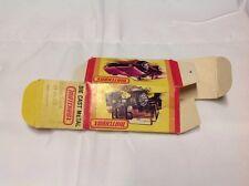 Vintage Matchbox Box Only #49 Crane Truck 01-00-49