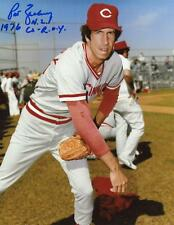 PAT ZACHRY 1976 N.L. CO R.O.Y. CINCINNATI REDS SIGNED AUTOGRAPHED 8X10 PHOTO W/C
