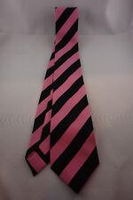 Krawatte pink schwarz gestreift - 100% Polyester - Karneval - Fasching
