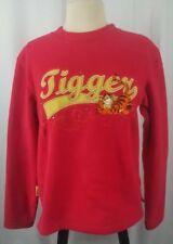 Disney Tigger Sweatshirt Women's 100% Fleece Red Size M