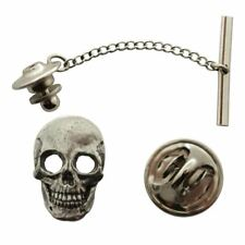 Skull Tie Tack ~ Antiqued Pewter ~ Tie Tack or Pin