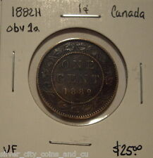 Canada Victoria 1882H Obv 1a Large Cent - VF