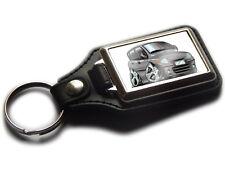 FIAT MULTIPLA MPV Koolart Leather and Chrome Keyring