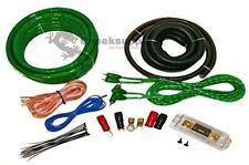0 GAUGE AMPLFIER POWER KIT AMP INSTALL WIRING COMPLETE 1/0 GA CABLES 6500W GREEN