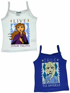 Frozen - Die Eiskönigin Shirt für Mädchen mit Motiven von Anna und Elsa 2er Pack