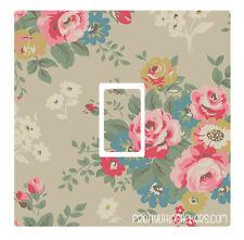 Vintage Floral Light Switch Sticker vinyl skin cover decal