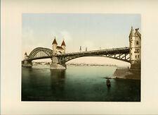 Photochrome P.Z Bonn, Rhein Brücke + Rolandseck - Allemagne c. 1900