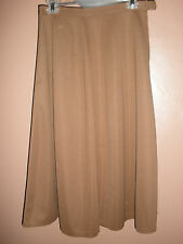 <Vintage 80s GIVENCHY SPORT Brown A-Line Skirt Sz 12 Below Knee100% Polyester