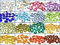 Quality Flat Back Round Faceted Loose Rhinestone Acrylic Gems Craft 6mm 8mm 10mm