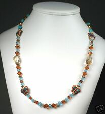Beautiful Handmade Butterfly  & Citrine Necklace