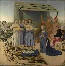 Metal Sign Piero Della Francesca The Nativity A4 12x8 Aluminium