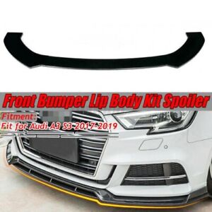 Front Bumper Lip Chin Splitter Spoiler For AUDI A4 A5 B6 B7 B8 B9 S3 S4 S5