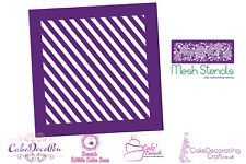 Printing Mesh Stencil | Slopy Stripes | Cake Decorating Craft