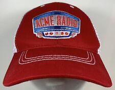 Acme Radio Cap NASHVILLE MUSIC CITY White Red Vintage Style Jukebox Retro Sound