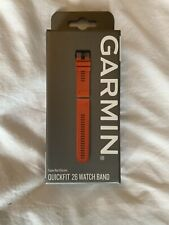 Genuine Garmin Quickfit 26 Watch Band Strap Flame Red Silicone