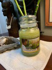 Yankee Candle SUMMER WISH 22 oz Large Jar Housewarmer BRAND NEW Rare