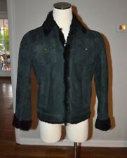 BOTTEGA VENETA BLACK BOMBER GENUINE SHEEPSKIN SHEARLING JACKET GENTLY USED MEN M