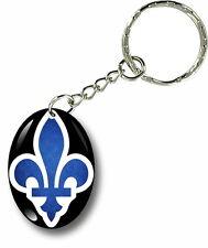 Porte clés clefs keychain voiture moto drapeau quebec fleur de lys canadien