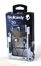 Skullcandy 50/50 Earphones Black/Chrome iPhone iPad Tablet Mic Remote