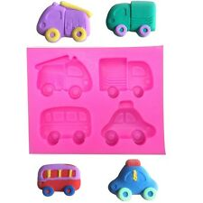 Truck Fire engine Car Vehicle Bus Taxi Silicone Cake Mould Sugarpaste Child kids