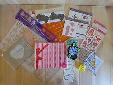 Scrapbook Supply Lot Letter Stencils Stickers Die Cut Shapes Frame Album Punch