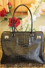 RAFE Black Pebbled Leather Embossed Tote shoulder Bag tote (pu160