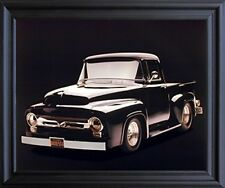 1956 Black Ford F 100 Pick Up Vintage Truck Greg Smith Wall Black Framed Picture