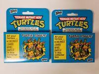 2 LOT Teenage Mutant Ninja Turtles 1990 Trading Card Set VINTAGE