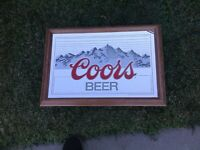 Vintage 1984 Coors Beer Lighted Sign By Adolph Coors Colorado