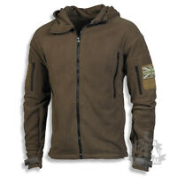 TACTICAL FLEECE MILITARY SPECIAL FORCES WITH UNION FLAG PATCH OLIVE GREEN