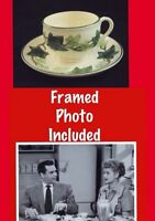 FRANCISCAN IVY I LOVE LUCY Show Prop Lucille Ball Photo CUP SAUCER China 1950s