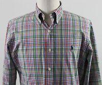 NEW Ralph Lauren Custom Fit Button Down Dress Shirt MENS MEDIUM Red Green Plaid