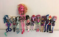 "Monster High Lot Of 11 Dolls With Original Clothes & Shoes - Jellington 17"" Tall"