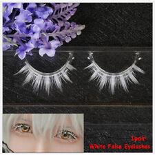 Cosplay  White False Eyelashes Long Cross  Natural Long  Eyelashes Extension