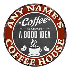 CP-0101 ANY NAME'S COFFEE HOUSE Custom Personalized Sign Decor Gift Ideas