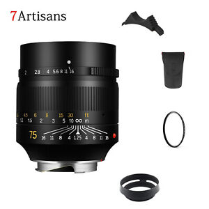 7artisans 75mm F1.25 Manual Focus Lens for Leica M-Mount Cameras Leica M2 M3  M5