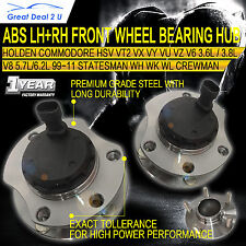 Front Wheel Bearing Hubs Holden Commodore VT 2 VX VU VY VZ V6 V8 ABS PAIR LH+RH