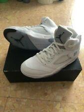 Nike Air Jordan 5 Retro White Metallic Silver 9.5