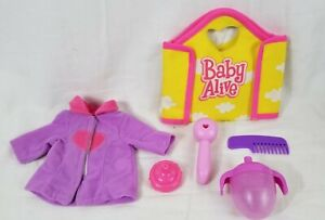 LOT of Baby Alive Doll Accessories - Sippy Cup, Shirt, Bag, Comb, Otoscope