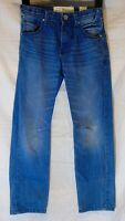 Boys Matalan Blue Whiskered Denim Adjustable Waist Classic Fit Jeans Age 8 Years
