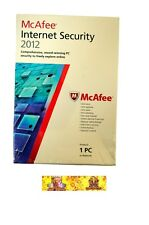 McAfee Internet Security 2012 PC Software NEW SEALED