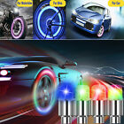 8pcs Led Wheels Tire Air Valve Stem Caps Blue Neon Light Lamp For Car Motor Bike