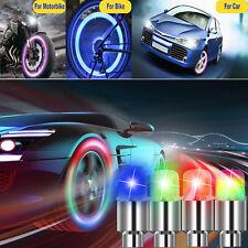 8Pcs Led Wheels Tire Air Valve Stem Caps Blue/Red Neon Light For Car Motor Bike